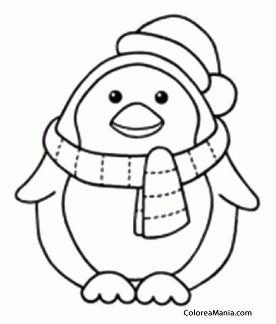 colorear pingino con bufanda y gorro  animales polares   dibujo para colorear gratis clipart pigs in mud moonshine clipart piggy bank with stethoscope