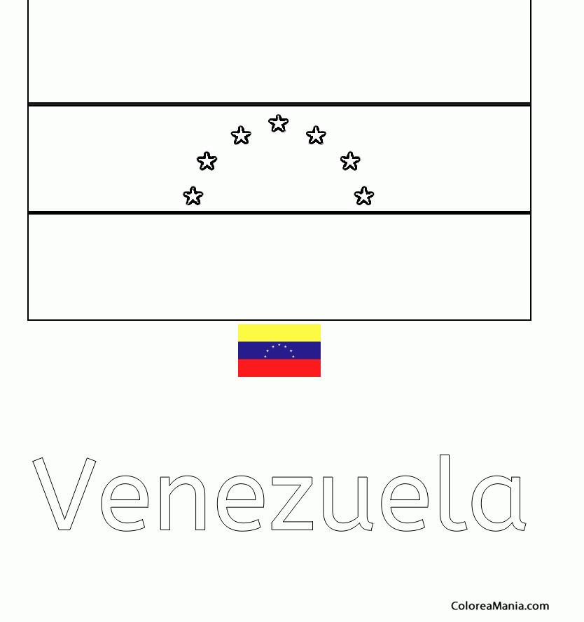 Colorear Venezuela 2 Banderas De Paises Dibujo Para