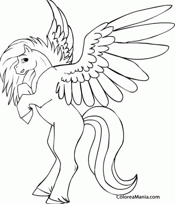 Colorear Pegaso. Pegasus. Pégase 3 (Animales Fantásticos), dibujo ...