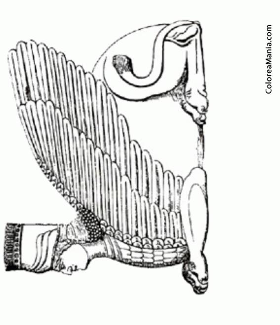 Colorear Esfinge Griega 2 (Animales Fantásticos), dibujo para ...