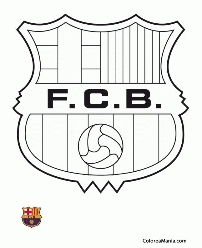 Colorear Fútbol Club Barcelona. Barça (Escudos equipos de Fútbol ...
