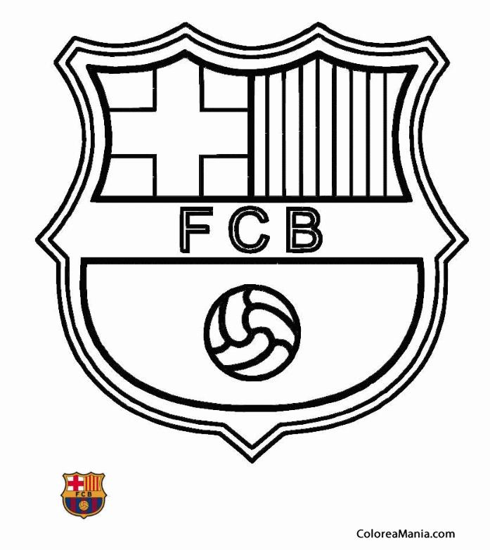 Escudo Fc Barcelona Dibujalia Dibujos Para Colorear Madreviewnet