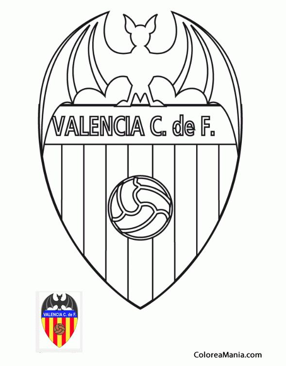 Colorear Valencia Club De Fútbol Escudos Equipos De Fútbol Dibujo Para Colorear Gratis
