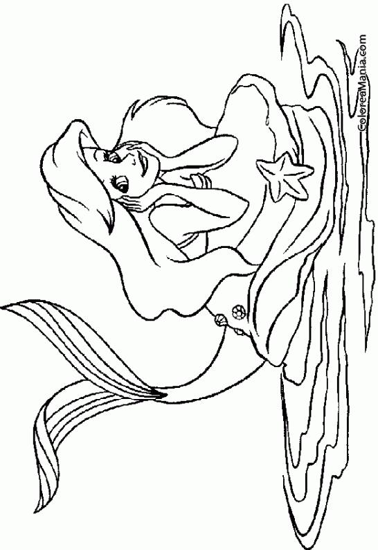 Colorear Sirena Con Codos En La Roca Animales Fantásticos