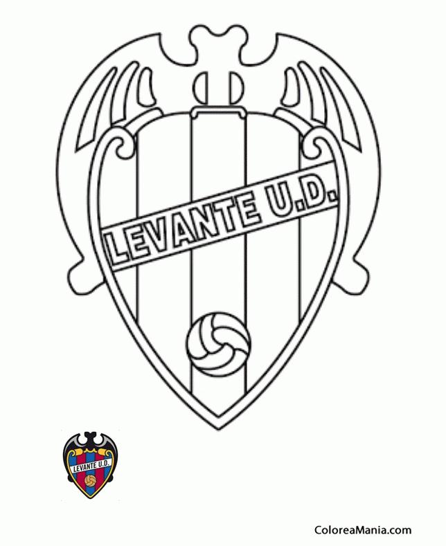 Colorear Levante Unión Deportiva (Escudos equipos de Fútbol), dibujo ...