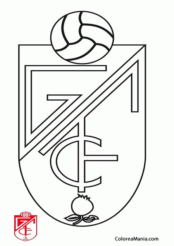 Colorear Granada Club de Ftbol Escudos equipos de Ftbol