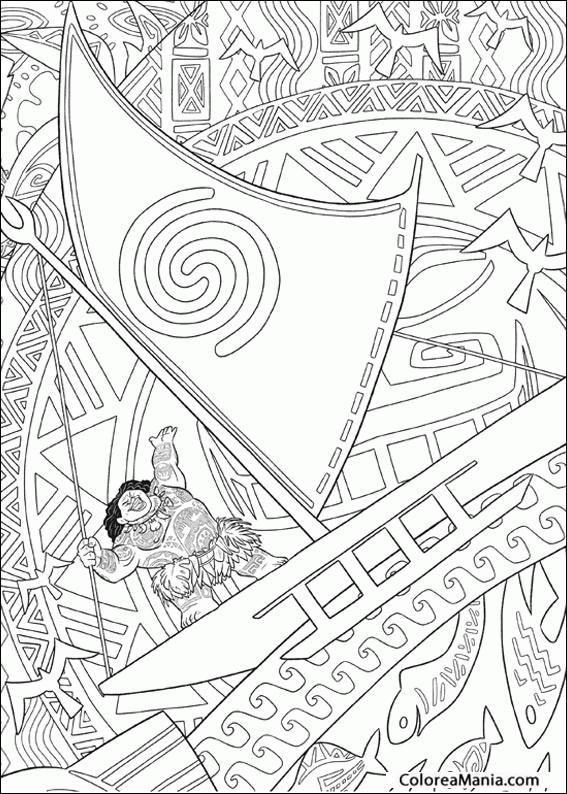 Colorear Maui De águila 2 Vaiana Dibujo Para Colorear Gratis