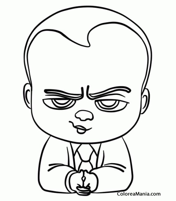 Colorear El bebé jefazo (El Bebé Jefazo), dibujo para colorear gratis