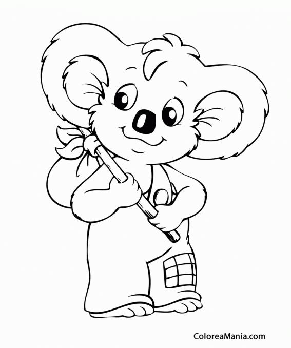 Colorear Blinky Bill de aventuras (Blinky Bill, el Koala), dibujo ...