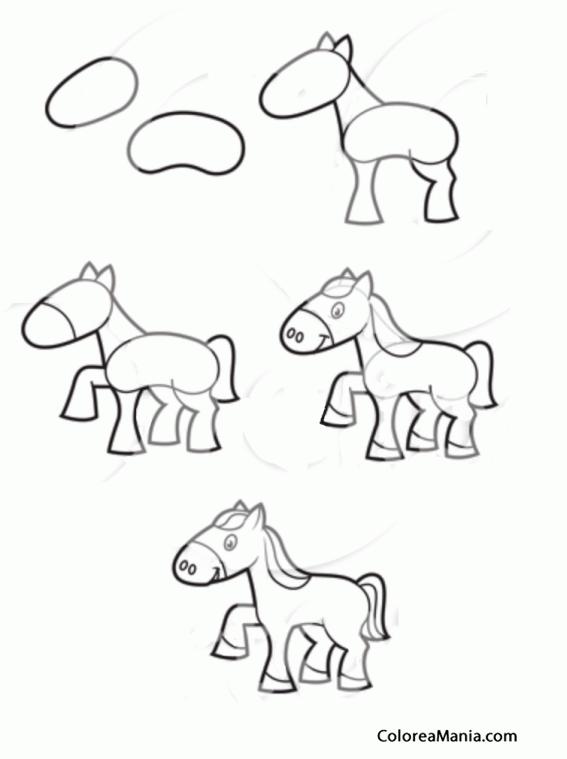 Colorear Dibujar Pequeño Pony Como Dibujar Un Caballo Dibujo Para