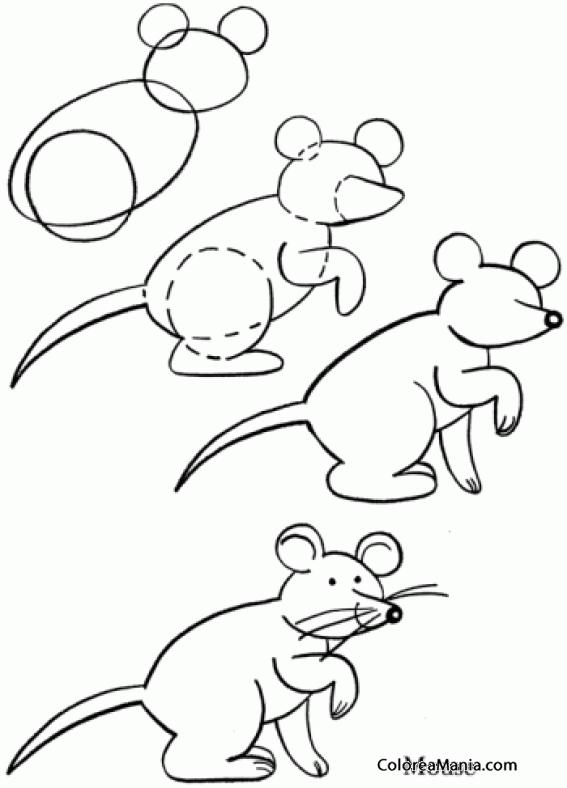 Colorear Dibujar Ratón Bigotes Como Dibujar Un Ratón