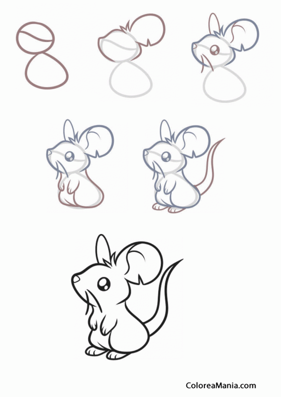 Colorear Com Dibuixar Un Ratolí Como Dibujar Un Ratón