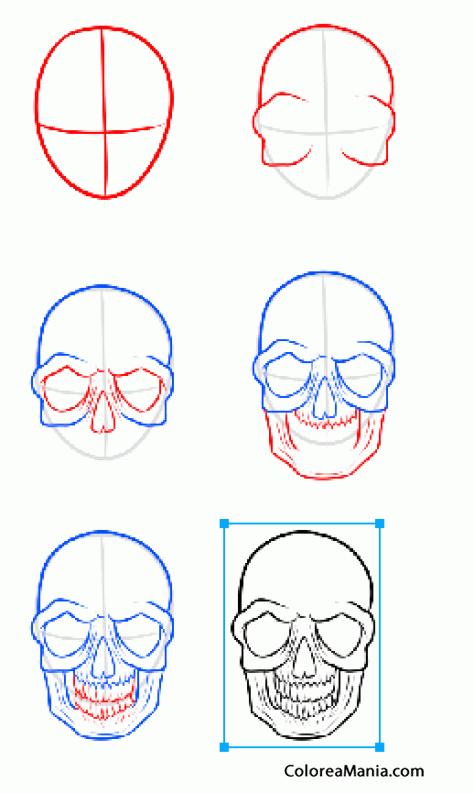 Colorear Como Dibujar Calavera De Ojos Grandes Cómo Dibujar